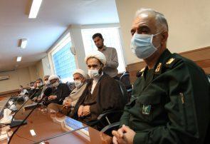 نشست فرماندهان ارتش و سپاه استان کرمانشاه با آیت الله علماء،به مناسبت آزاد سازی خرمشهر